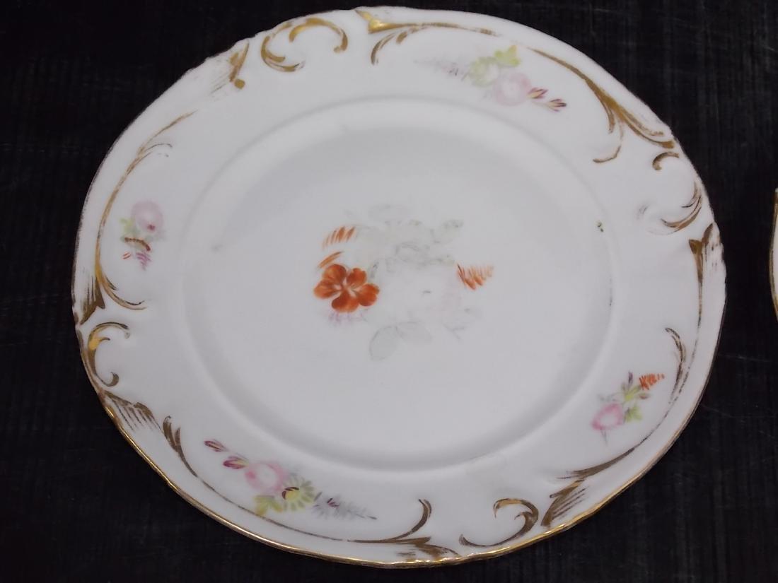 SET OF 4 ANTIQUE VICTORIAN PORCELAIN CAKE PLATES - 3