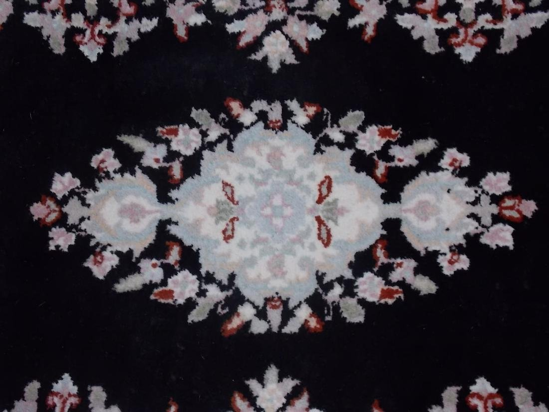 HANDMADE INDIA RUG 2.6 X 8.4 BLACK/PEACH - 3