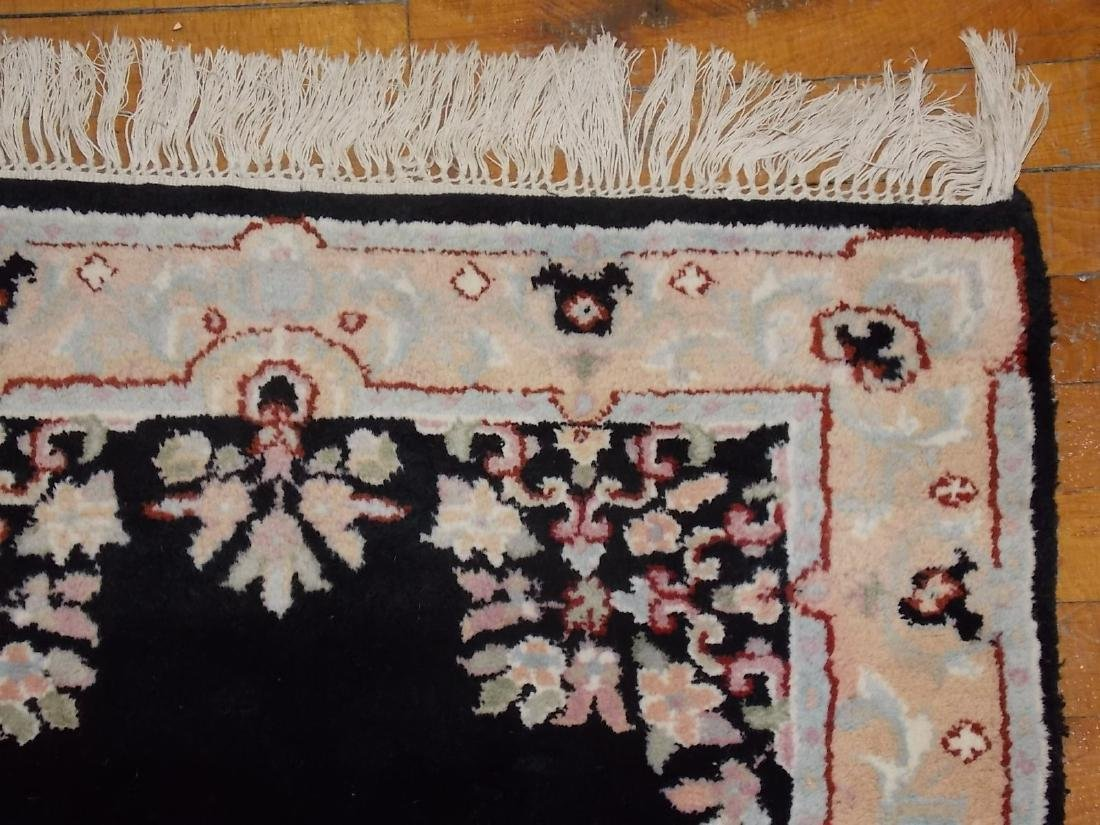 HANDMADE INDIA RUG 2.6 X 8.4 BLACK/PEACH - 4
