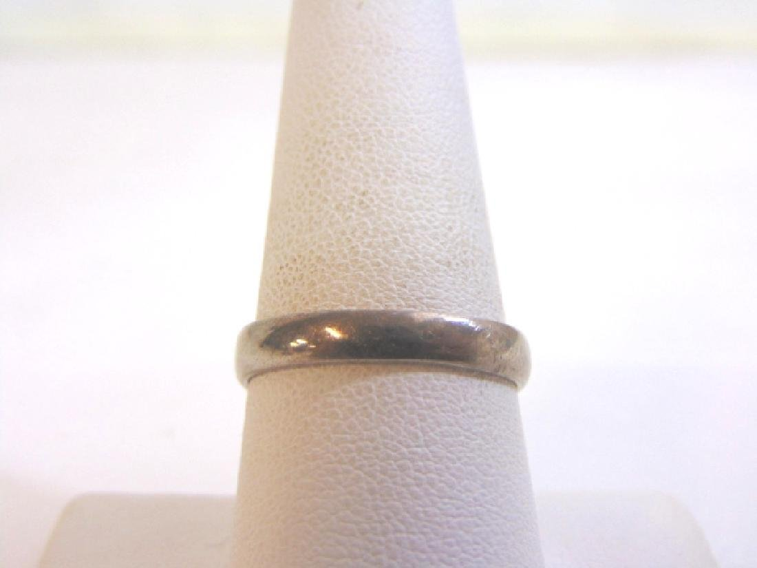 Womens Vintage Estate Sterling Silver Band Ring 3.5g - 4