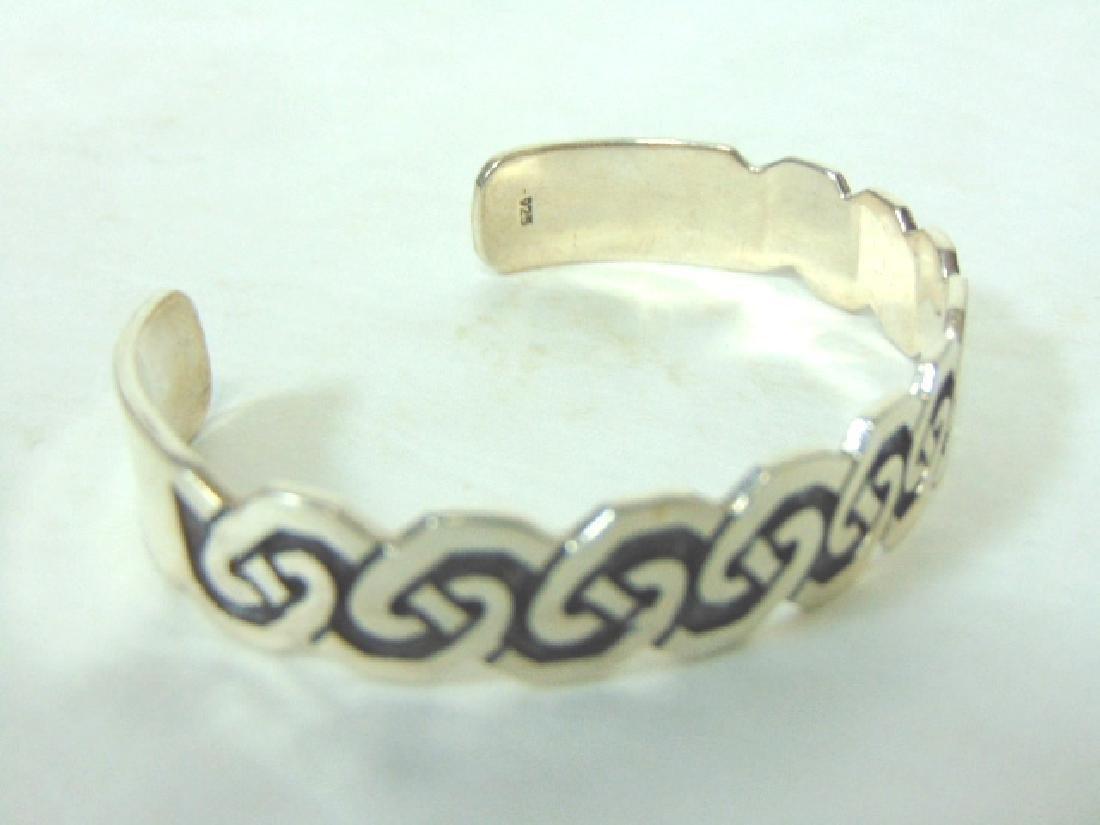 Womens Vintage Estate Sterling Silver Cuff Bracelet - 3