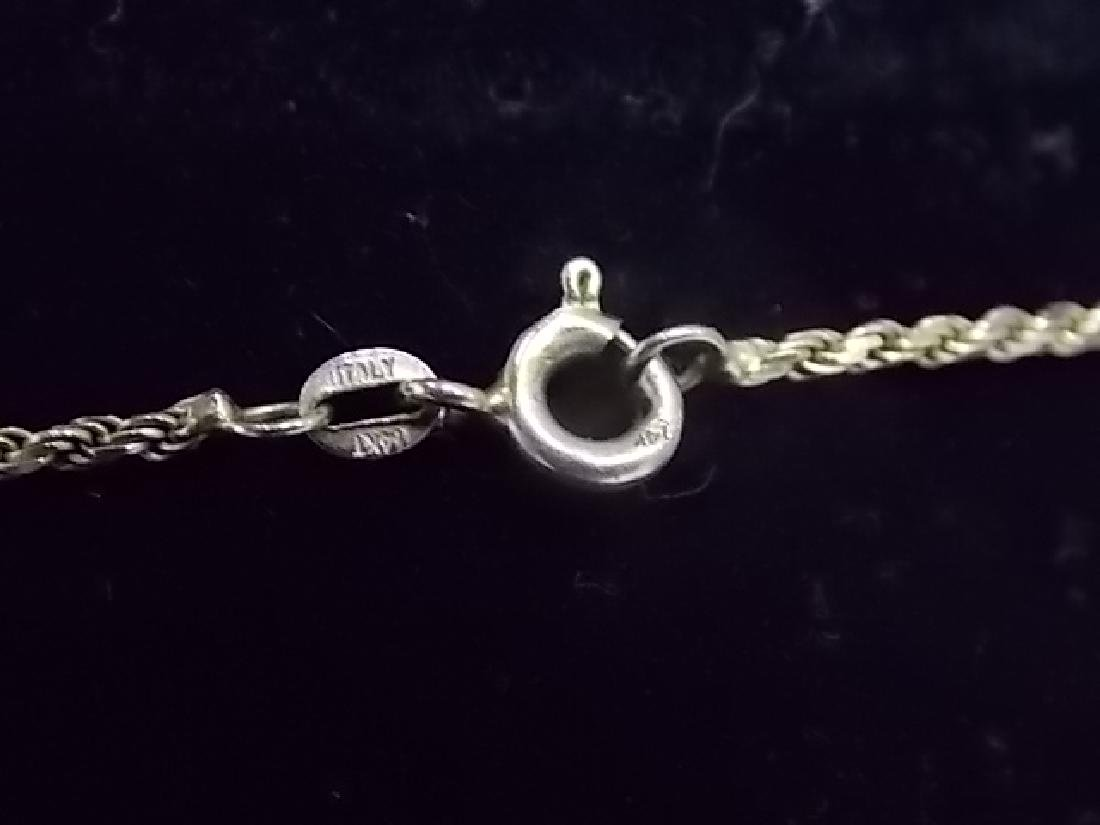 Vintage Estate14K Gold Necklace W/ Religious Pendant - 3