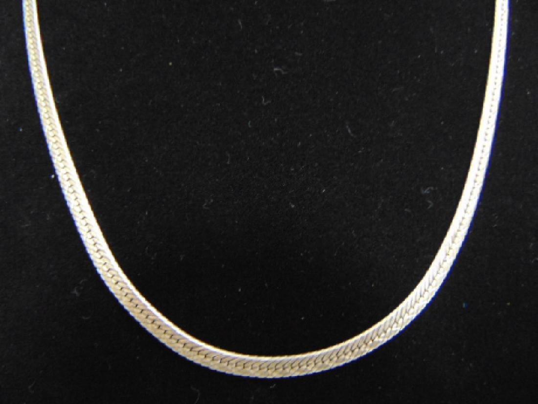 Vintage Sterling Silver Italian Herringbone Necklace