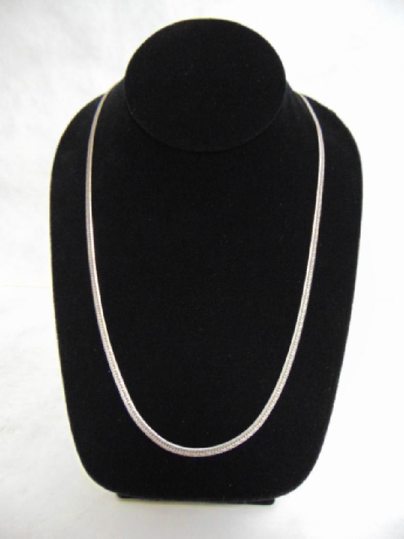 Vintage Sterling Silver Italian Herringbone Necklace - 2