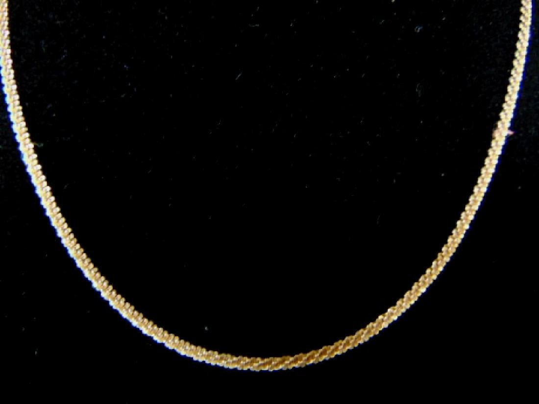 Vintage Estate Sterling Silver .925 Italian Necklace - 2