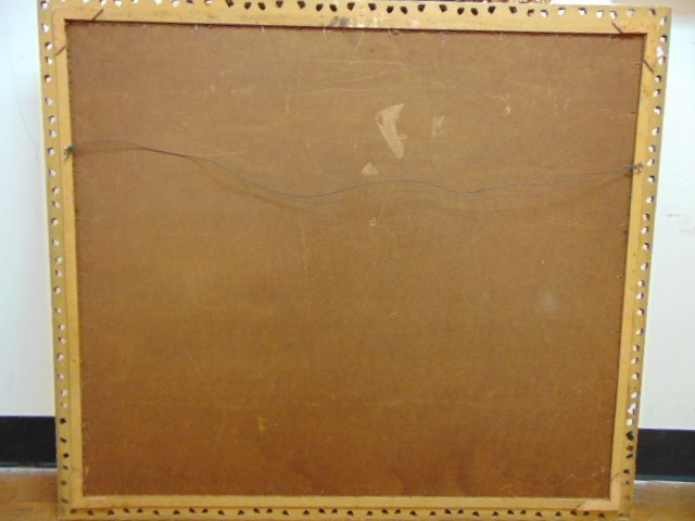 Huge Antique Painting of Jesus in Manger - 8