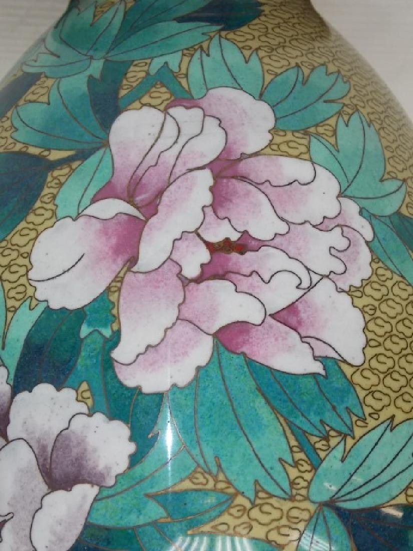 DECORATIVE CHINESE ASIAN CLOISONNE VASE - 8