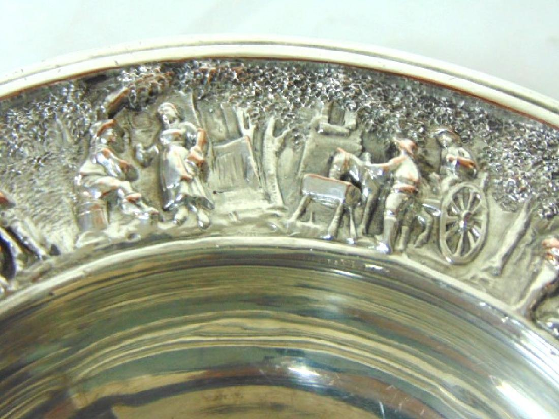 ANTIQUE BARBOUR SILVERPLATE CHAMPAGNE COASTER - 2