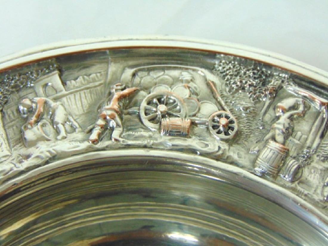 ANTIQUE BARBOUR SILVERPLATE CHAMPAGNE COASTER - 3