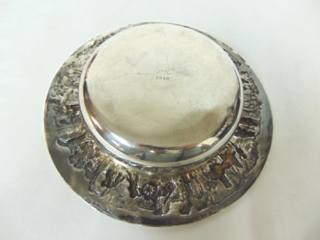 ANTIQUE BARBOUR SILVERPLATE CHAMPAGNE COASTER - 4