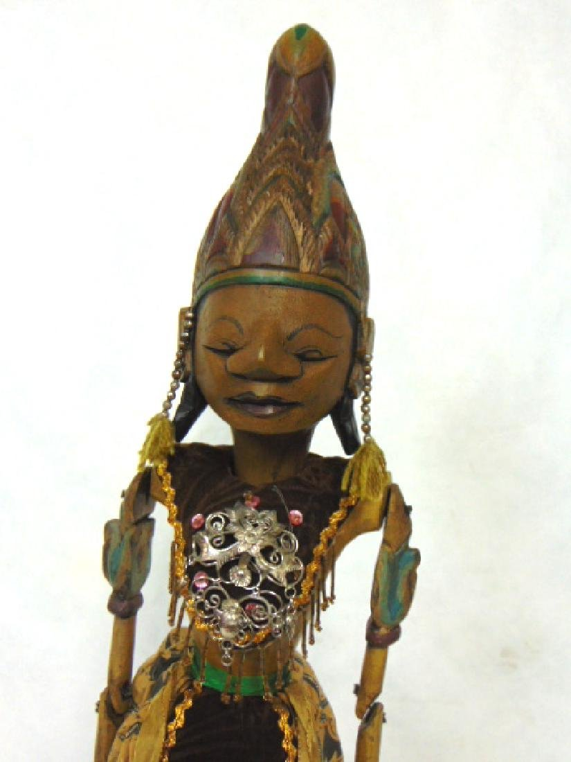 ANTIQUE PRIMITIVE HAND MADE FOLK ART STICK PUPPET