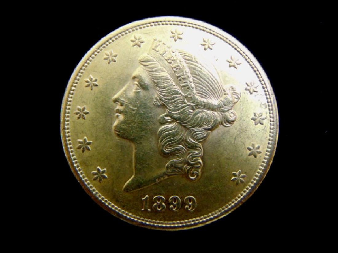 ESTATE FIND 1899-S LIBERTY DOUBLE EAGLE $20 GOLD COIN