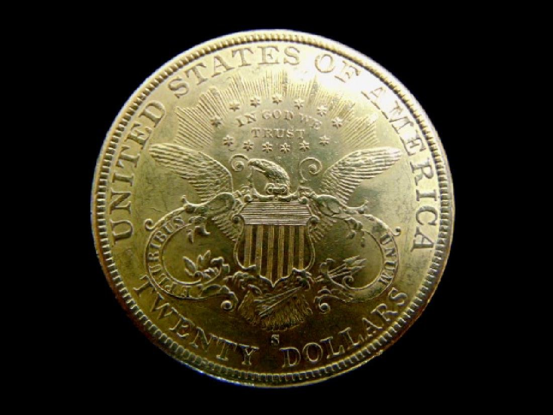 ESTATE FIND 1899-S LIBERTY DOUBLE EAGLE $20 GOLD COIN - 2
