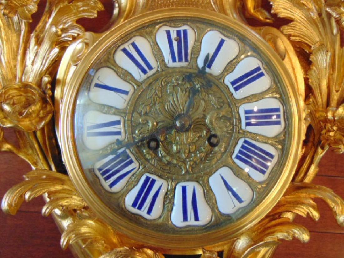 Antique 19th C. French Ormolu G. Philippe Wall Clock - 3