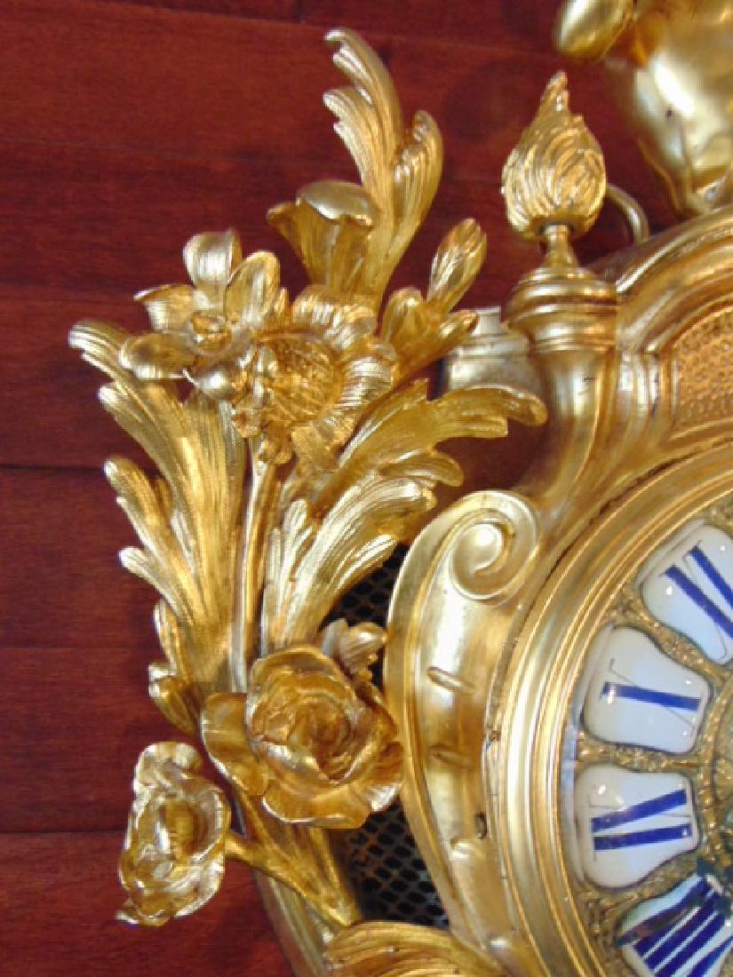 Antique 19th C. French Ormolu G. Philippe Wall Clock - 4