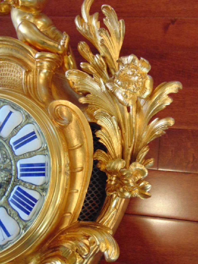 Antique 19th C. French Ormolu G. Philippe Wall Clock - 5