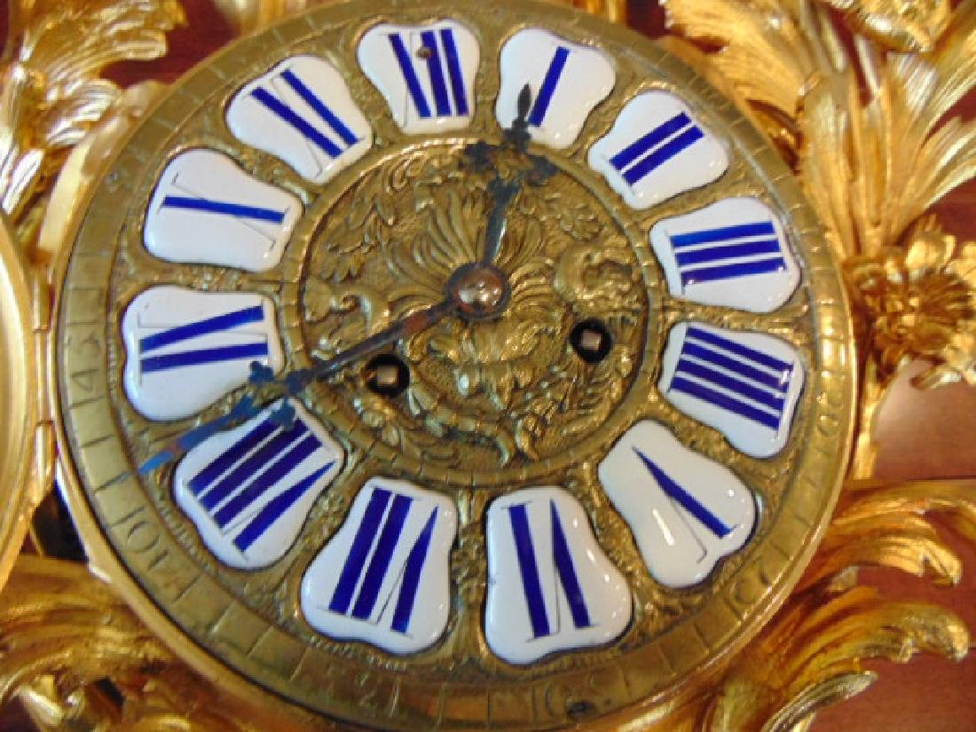 Antique 19th C. French Ormolu G. Philippe Wall Clock - 8