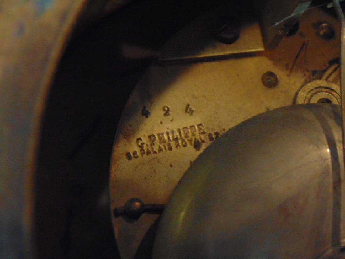 Antique 19th C. French Ormolu G. Philippe Wall Clock - 9