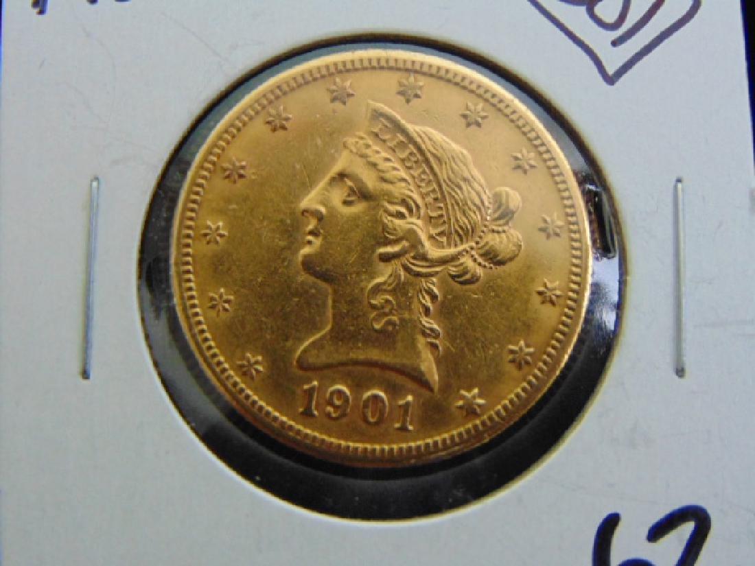 Antique Estate Find 1901-S U.S. $10 Gold Liberty Coin