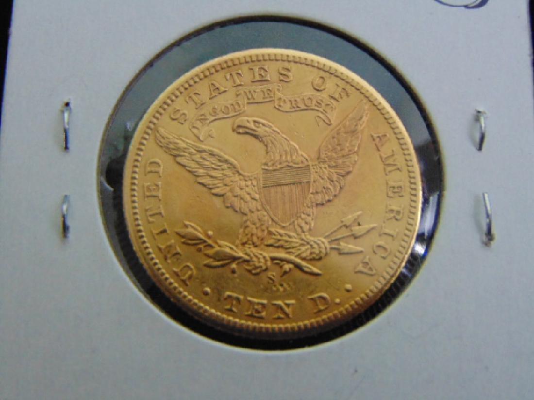 Antique Estate Find 1901-S U.S. $10 Gold Liberty Coin - 2