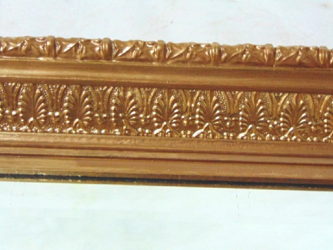 ANTIQUE ORNATE GOLD GILT BEVELED GLASS MIRROR - 2