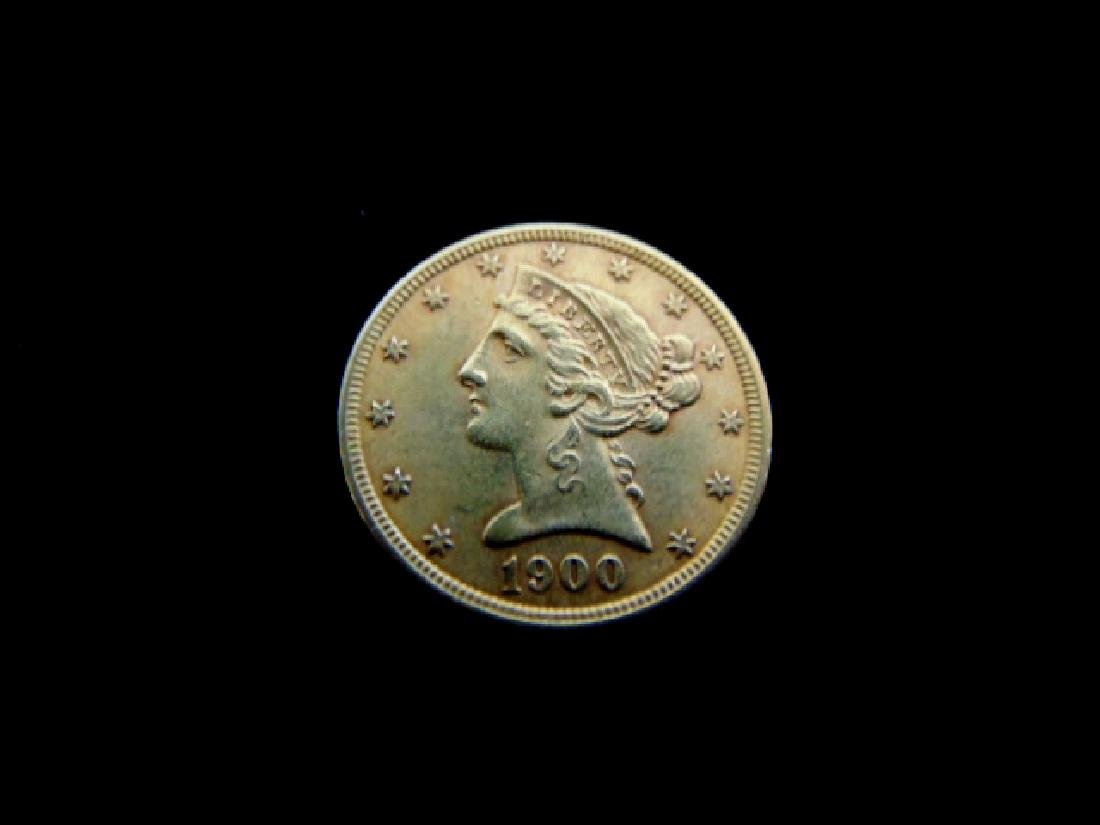 ESTATE FIND 1900 $5 LIBERTY HALF EAGLE GOLD COIN
