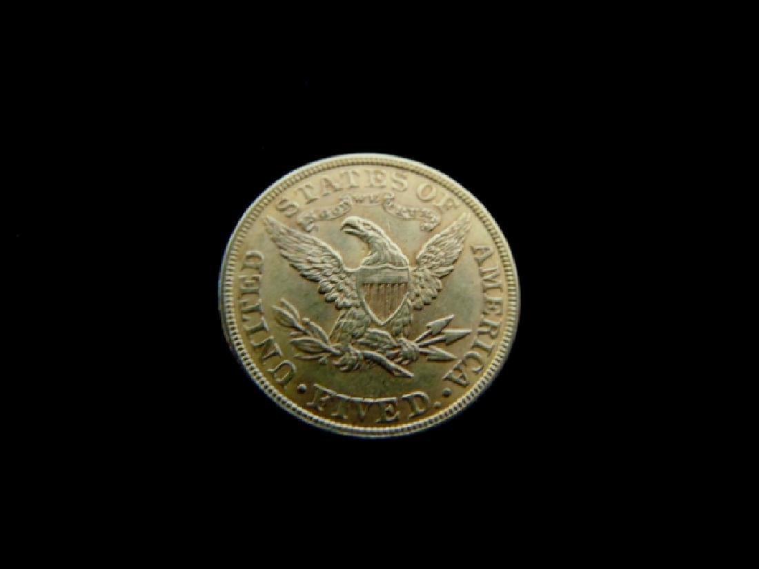 ESTATE FIND 1900 $5 LIBERTY HALF EAGLE GOLD COIN - 2