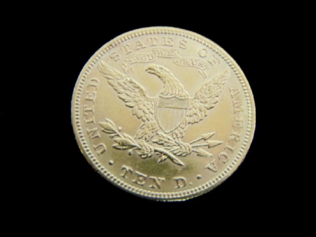 Antique Estate Find 1881 U.S. $10 Gold Liberty Coin - 2