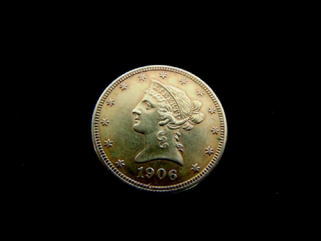 Antique Estate Find 1906-D U.S. $10 Gold Liberty Coin