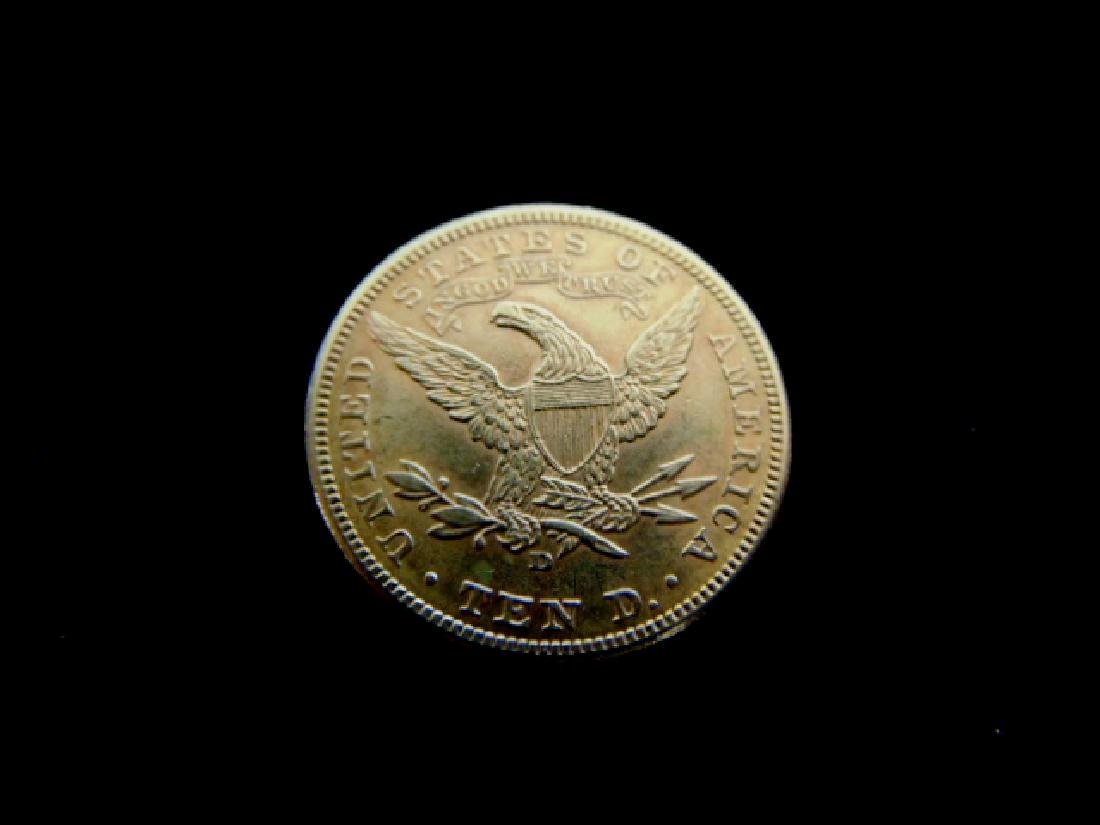 Antique Estate Find 1906-D U.S. $10 Gold Liberty Coin - 2