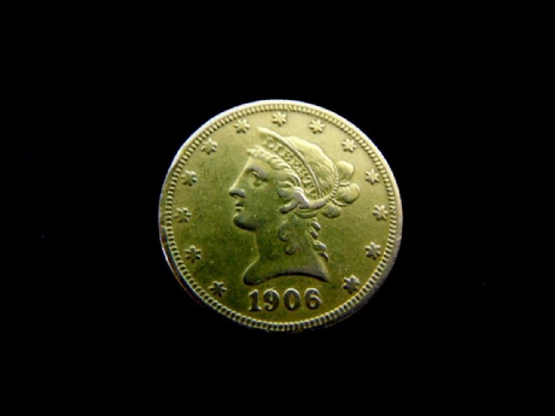 Antique Estate Find 1906-S U.S. $10 Gold Liberty Coin