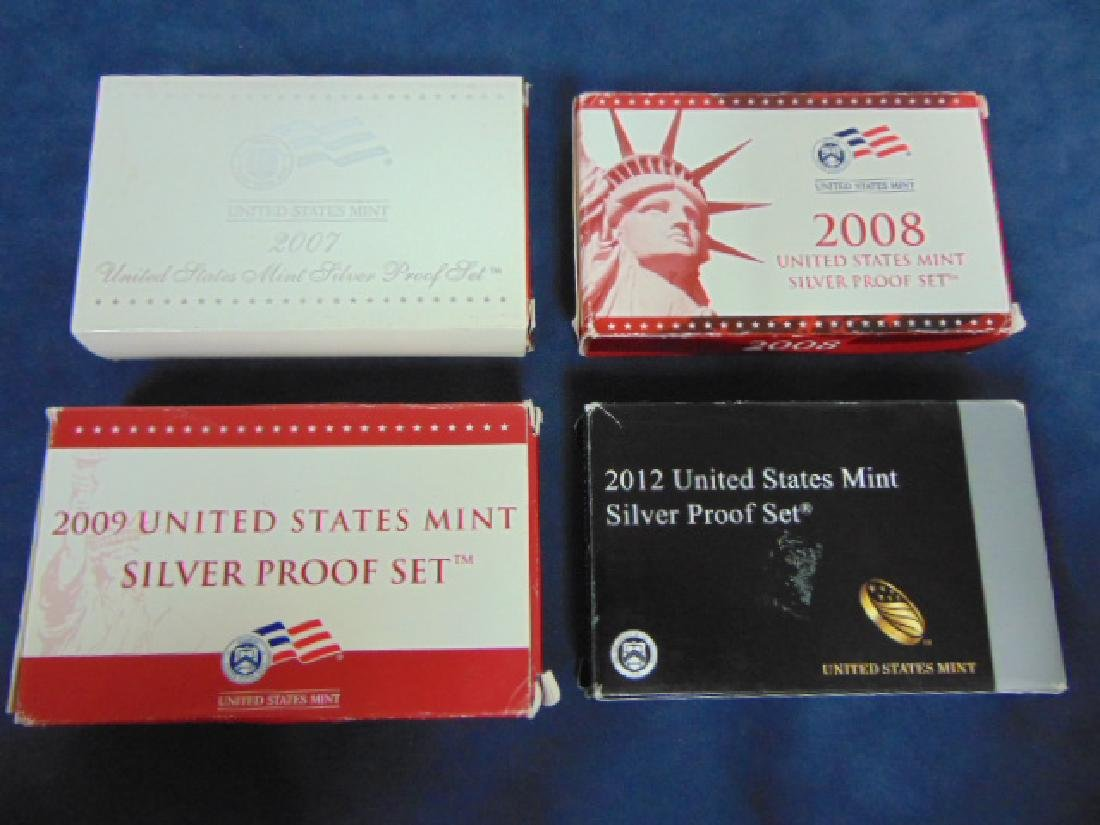 LOT OF 4 COLLECTIBLE U.S MINT SILVER PROOF SETS