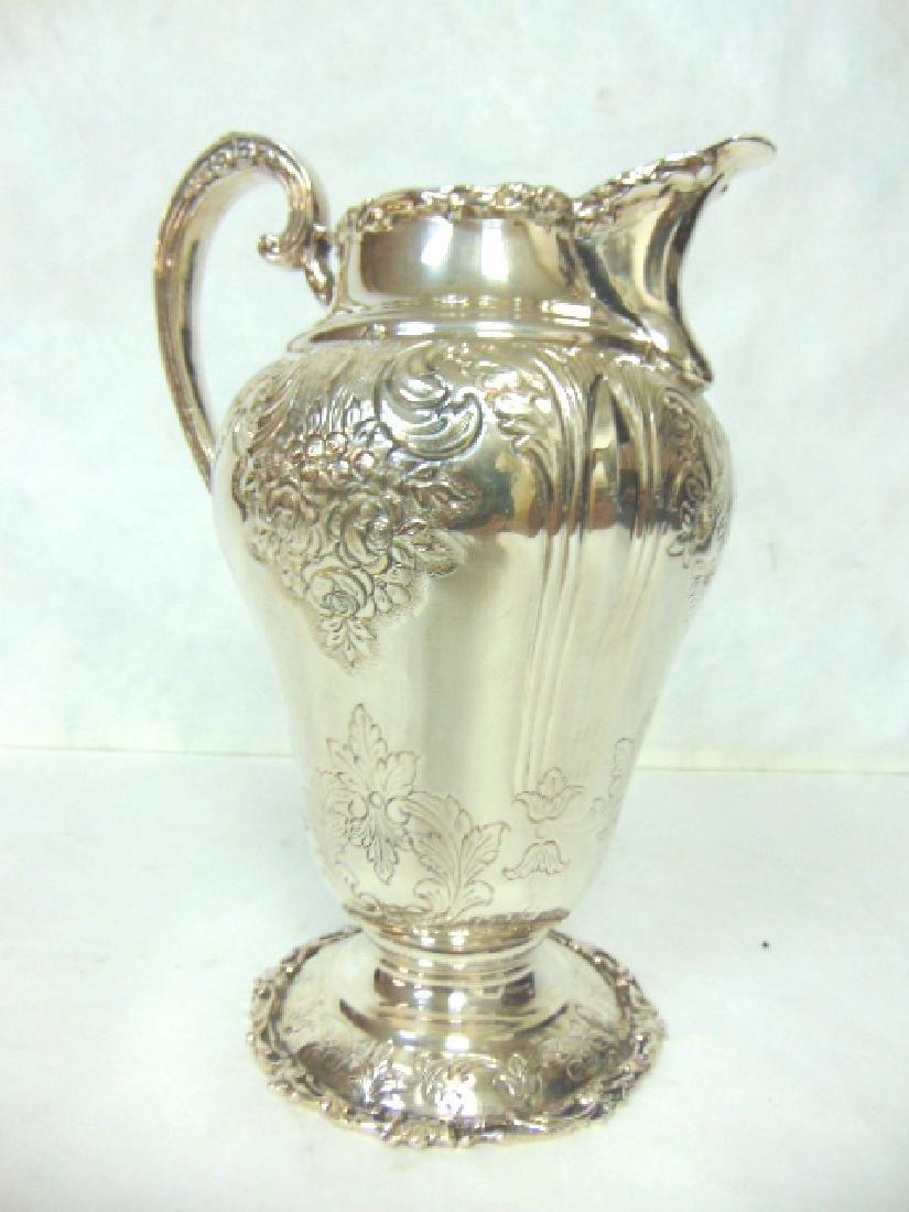 Antique Samuel Kirk Coin Silver Water Pitcher
