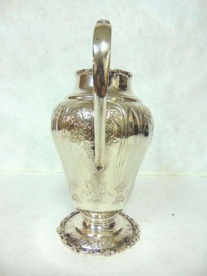 Antique Samuel Kirk Coin Silver Water Pitcher - 4