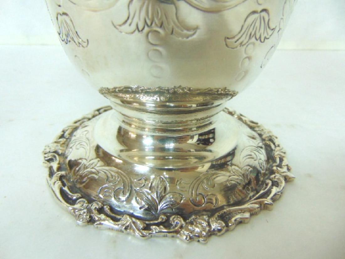 Antique Samuel Kirk Coin Silver Water Pitcher - 5