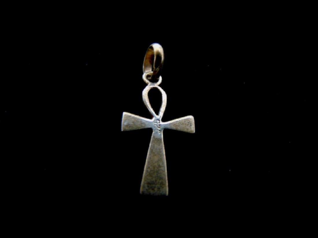 Vintage Estate Sterling Silver Religious Cross Pendant - 2