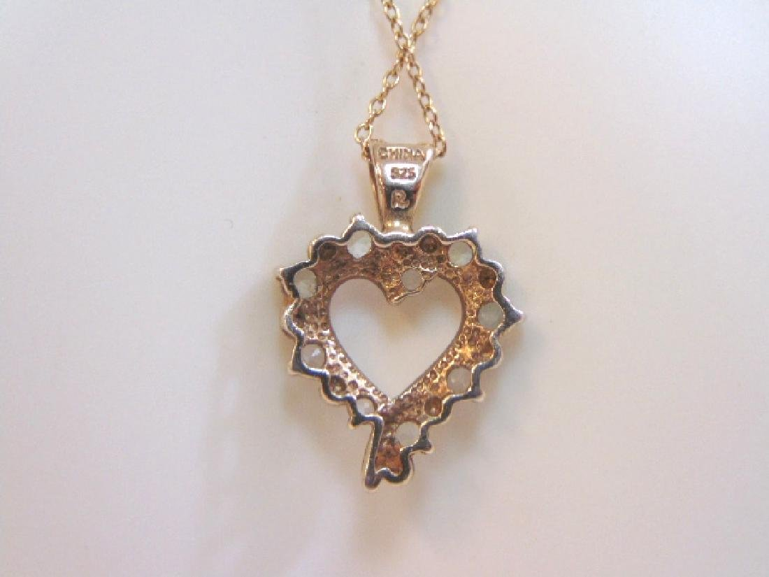 Vintage Sterling Silver Necklace & Heart Pendant - 2