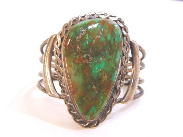 Vintage Sterling Silver Southwestern Cuff Bracelet