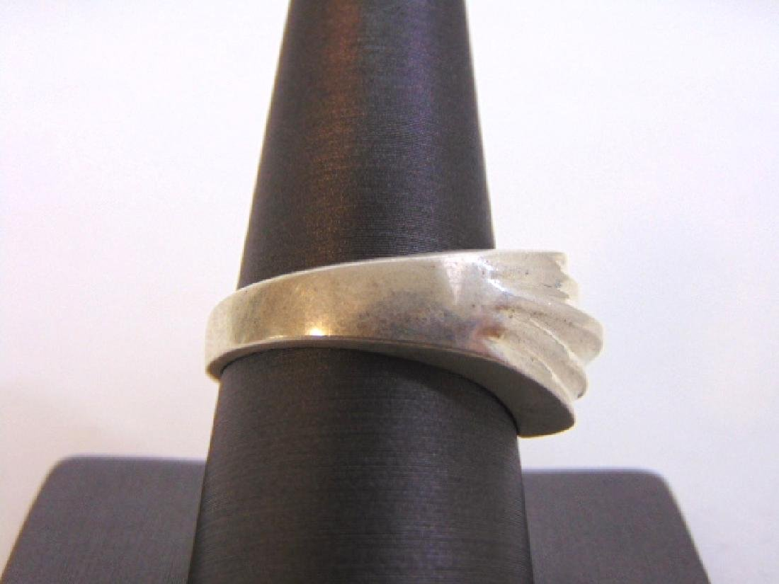 Womens Vintage Estate Sterling Silver Band Ring 10.2g - 2