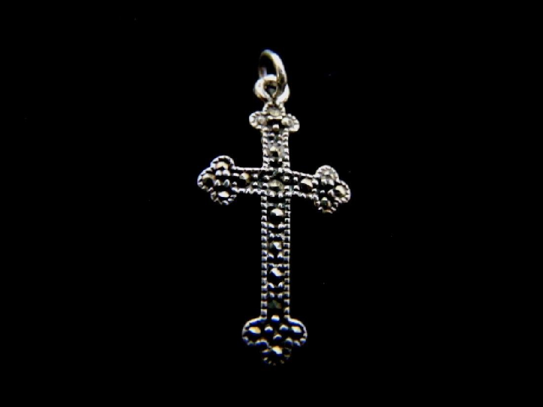 Vintage Estate Sterling Silver Religious Cross Pendant
