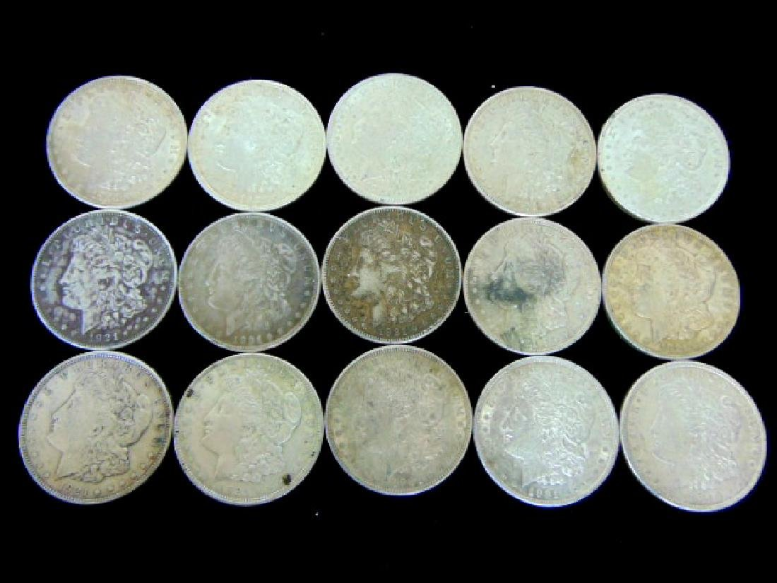 LOT OF (15) 1921 MORGAN SILVER DOLLAR COIN ESTATE FIND