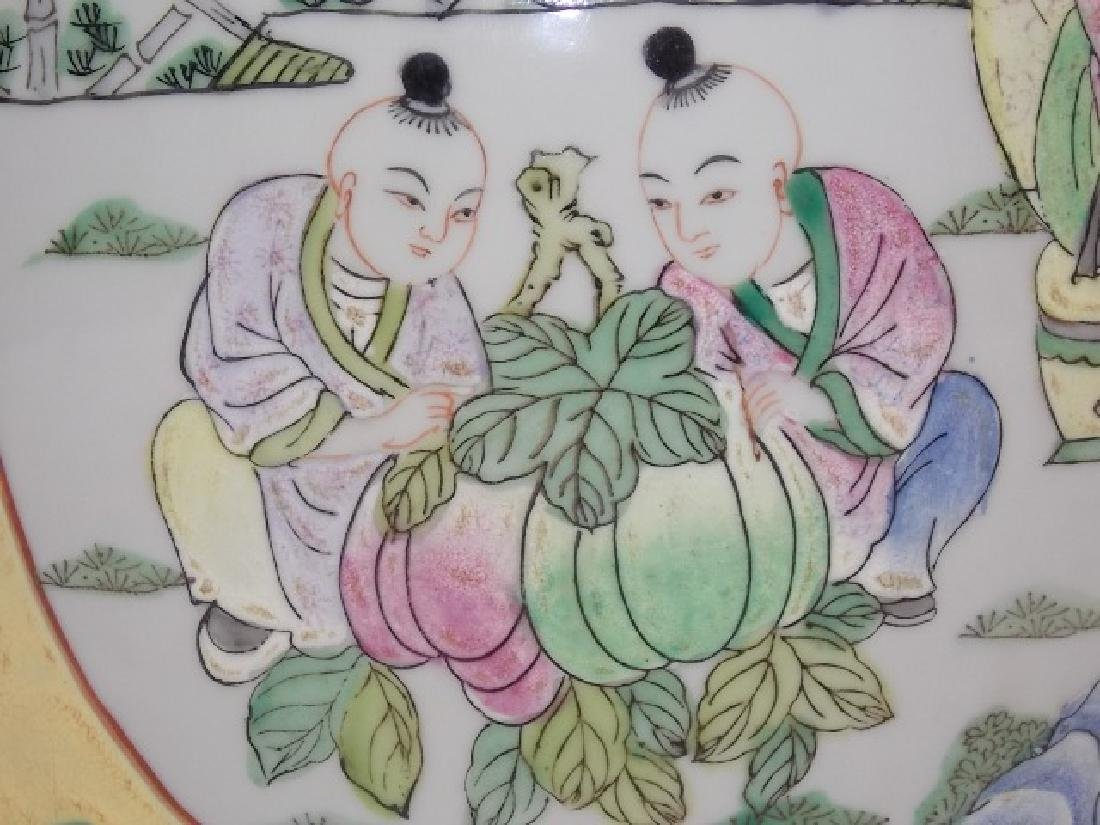 HAND PAINTED CHINESE ROSE FAMILLE TEA CADDY - 6