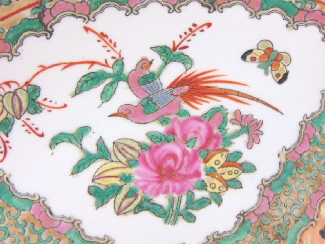 VINTAGE CHINESE FAMILLE ROSE MEDALLION CHARGER PLATE - 5