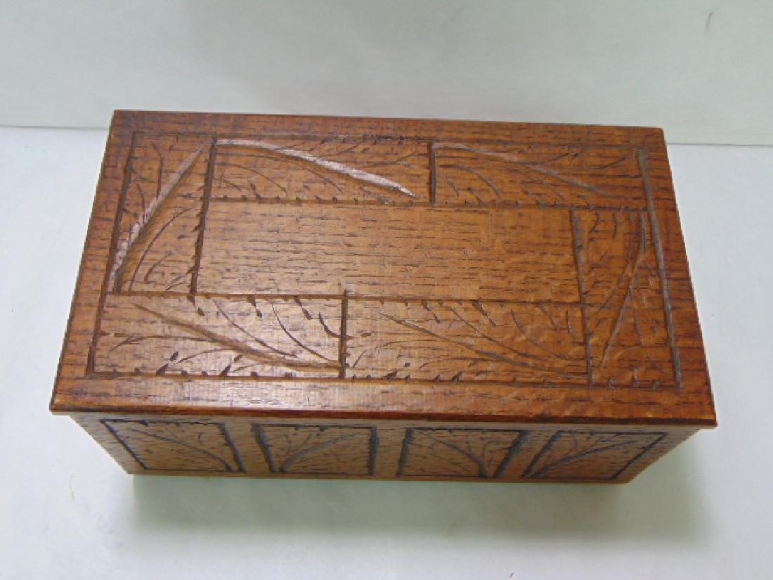 VINTAGE WOODEN FOLK ART DOCUMENT BOX - 2