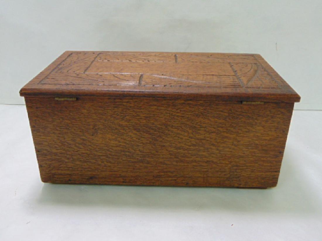 VINTAGE WOODEN FOLK ART DOCUMENT BOX - 3