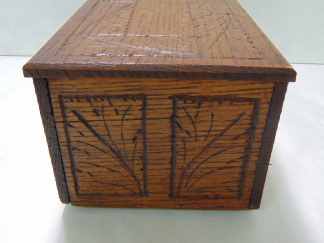 VINTAGE WOODEN FOLK ART DOCUMENT BOX - 5