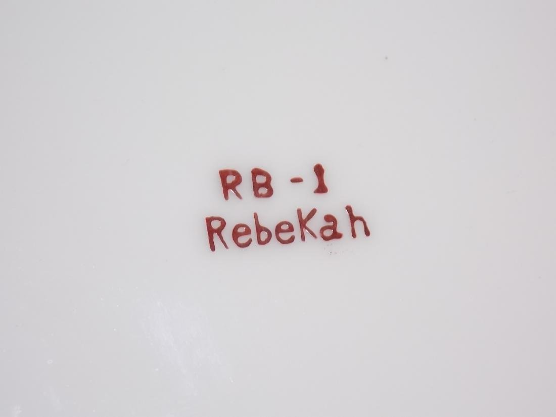 ANTIQUE VICTORIAN REBEKAH PORCELAIN CAKE PLATE - 4