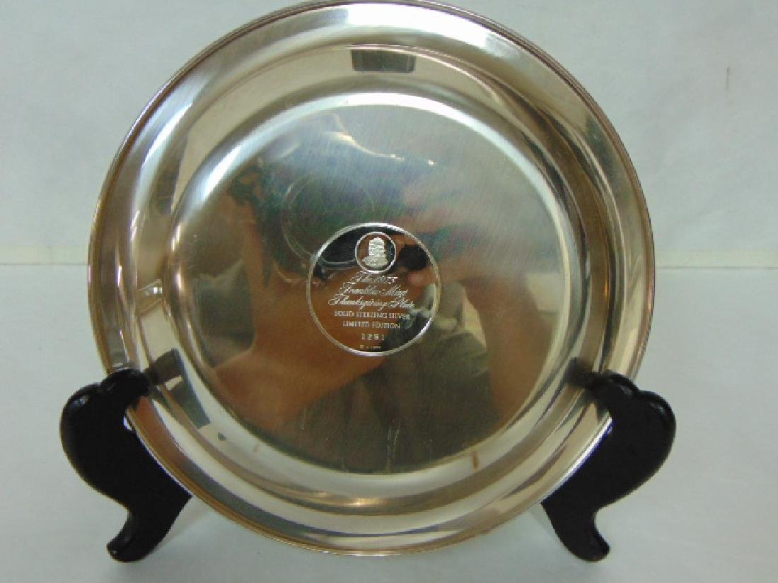 FRANKLIN MINT THANKSGIVING STERLING SILVER PLATE - 2