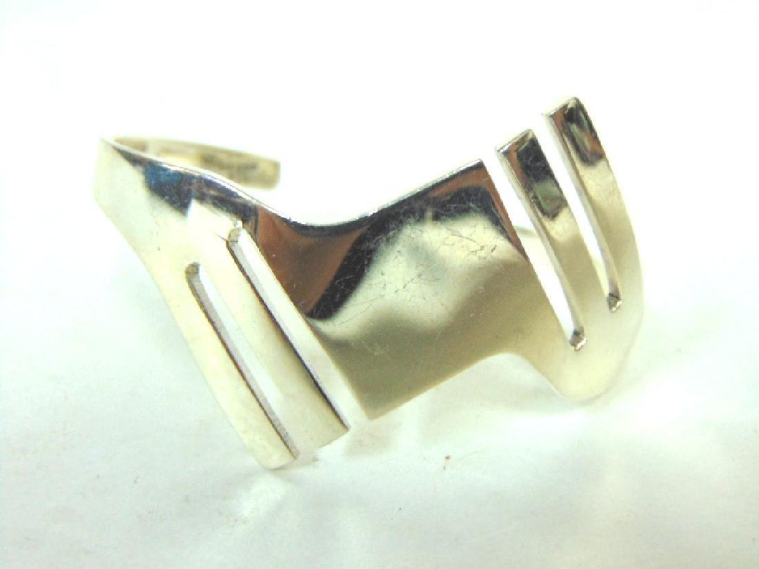 Womens Vintage Estate Sterling Silver Cuff Bracelet