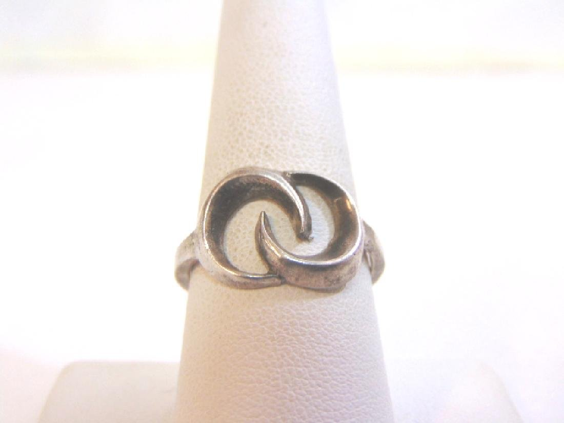 Womens Vintage Estate Sterling Silver Band Ring 4.2g